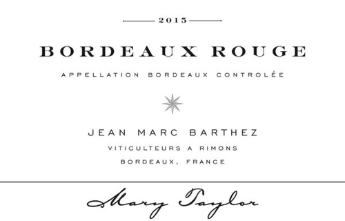2016 Mary Taylor, Bordeaux Rouge, Jean Marc Barthez