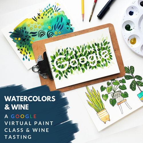 Watercolors and Wine - 1 bottle bundle (Google Event)