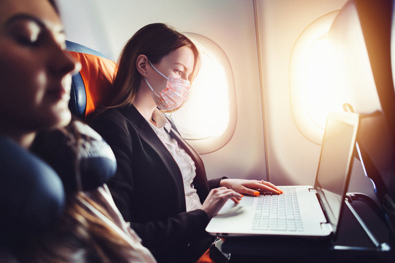 "Airplane Etiquette: how to avoid being ""that person"" on a flight and why travel germ mask is important"