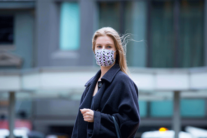 Stylish' face masks are launched for corporate workers to wear in the office during flu season. Daily Mail and TECMASK