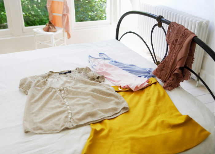 Planning outfits when packing for holiday
