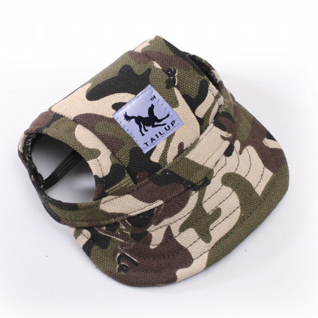 Adjustable Canvas Dog Caps
