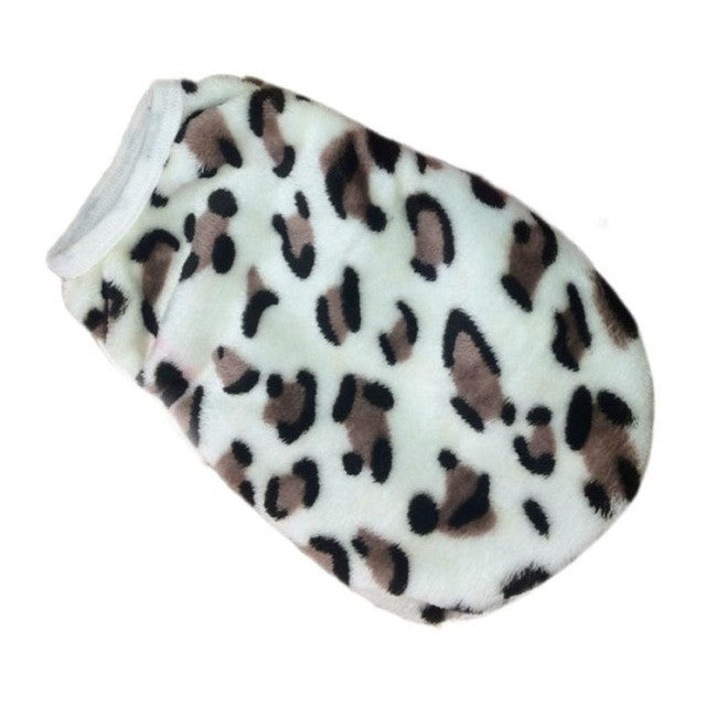 Fleece Leopard Vest