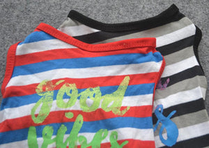 Good Vibes Striped Shirt