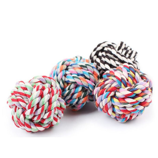 Cotton Rope Colorful Chew Toys