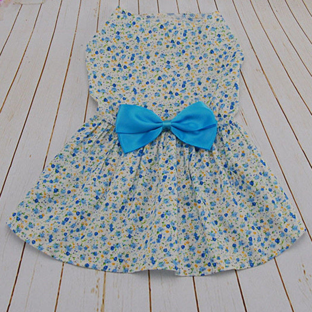 Lightweight Bow Skirt for Small Dogs