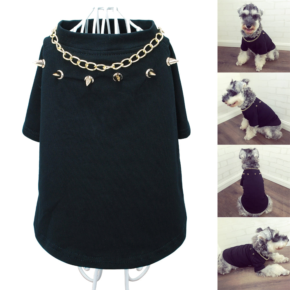 Spiked Collar & Chain Shirt
