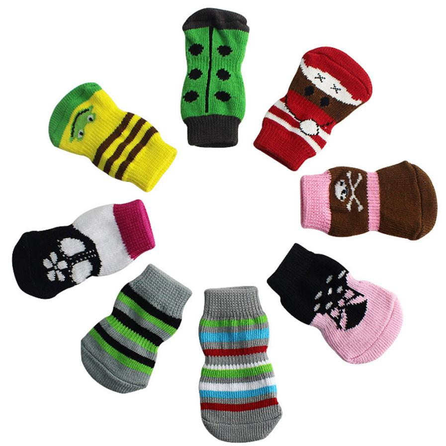 Non-slip Skeleton Socks (4 Pieces)