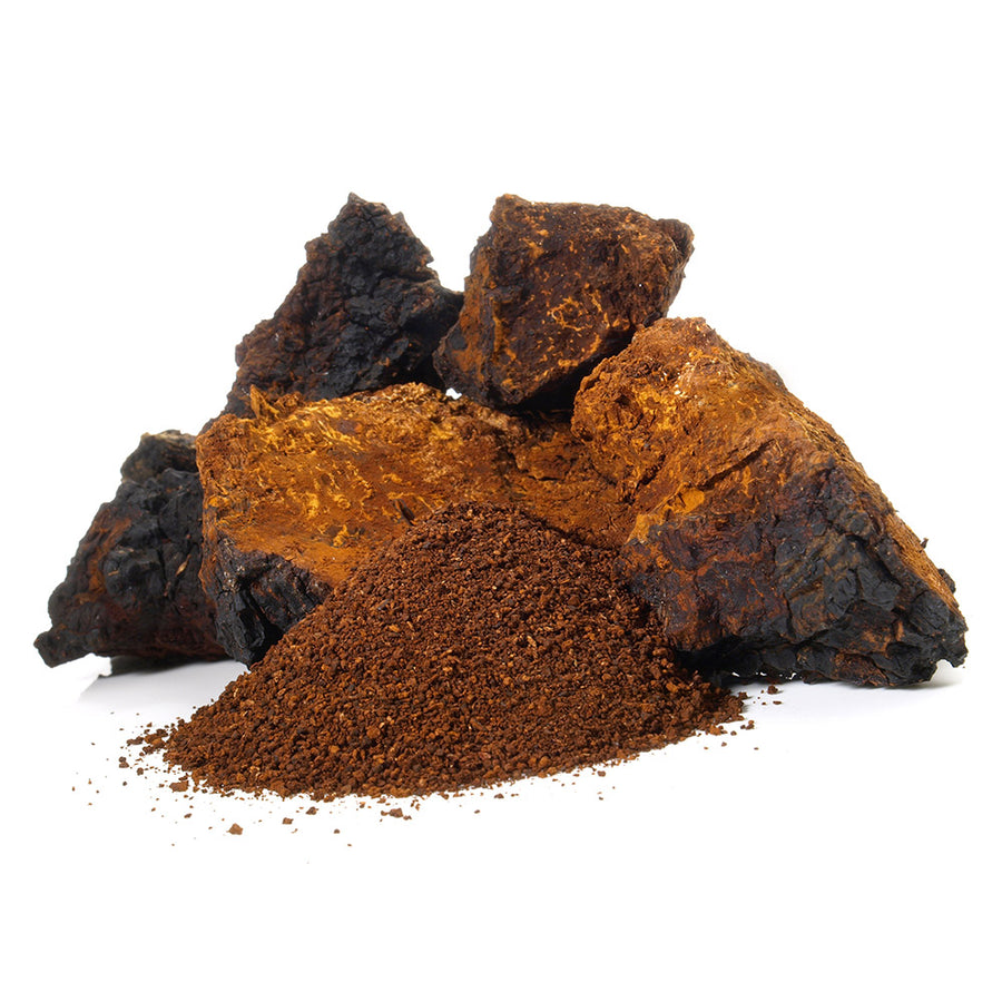 Stay Wyld Organics Chaga Mushroom Powder. Organically grown in North America. Steamed for maximum bioavailability. 100% Plastic Free Packaging. Medicinal Mushrooms, Organic, Gluten Free, non-GMO. Antioxidant rich superfood. Immune system boost. Healthy skin, hair and nail support.