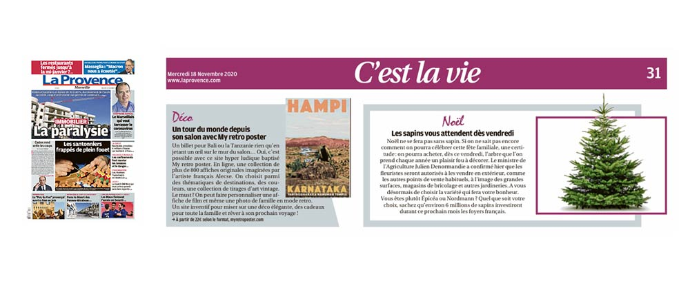 My Retro Poster in La Provence Newspaper
