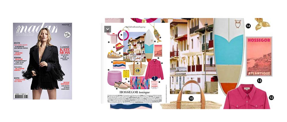 Hossegor Pink Art Print in Madame Figaro Special Gift: Hossegor Tonic (décembre 2020)