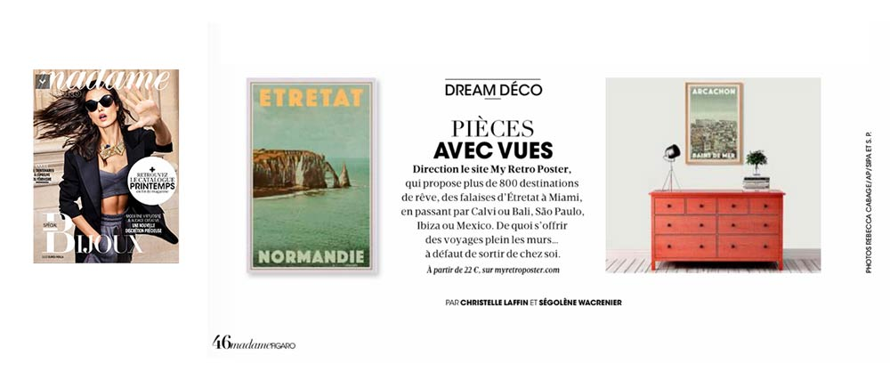 My Retro Poster in Figaro Madame Magazine