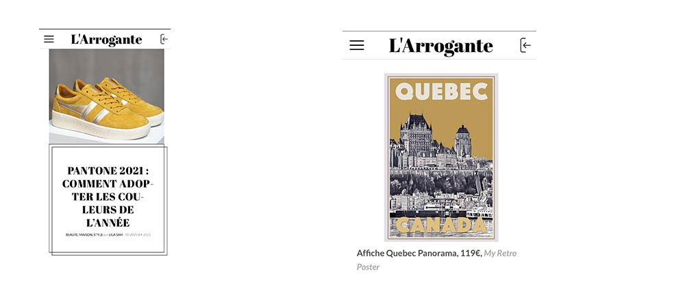"Limited Edition Retro Poster ""QUEBEC"" featured in l'Arrogante.fr - Fev 2021"