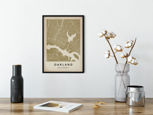 Plan de la ville d'Oakland par The Wanderer Maps