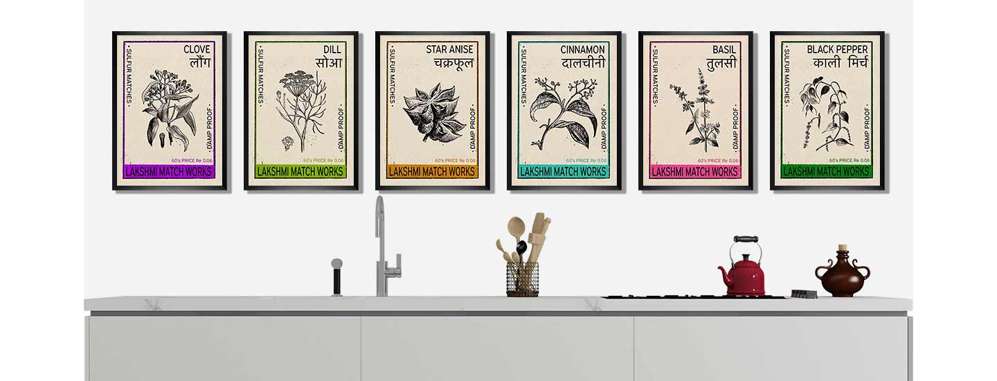 Indian Spices poster collection