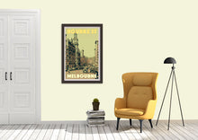 Load image into Gallery viewer, Vintage poster BOURKE STREET  - Retro poster MELBOURNE