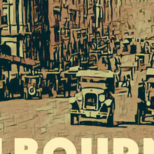 Load image into Gallery viewer, Details of poster BOURKE STREET Vintage poster MELBOURNE