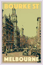 Load image into Gallery viewer, BOURKE STREET Vintage poster MELBOURNE