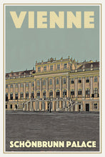 Load image into Gallery viewer, Vintage poster - SCHONBRUNN PALACE VIENNE - Retro travel poster of Austria