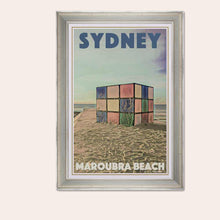 Load image into Gallery viewer, Framed poster MAROUBRA BEACH SYDNEY - Original Art Print Australia