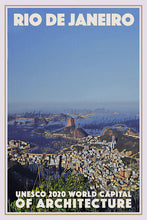 Load image into Gallery viewer, poster Rio World Capital of Architecture - affiche retro