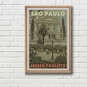 Framed poster Sao Paulo - Vintage poster Museu Paulista