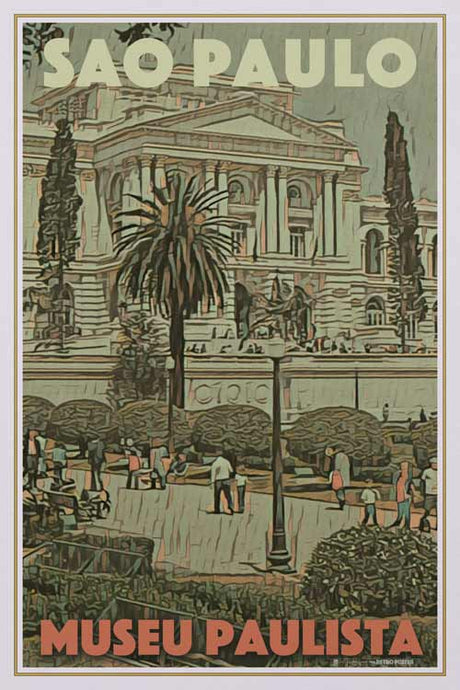 Vintage poster of MUSEU PAULISTA SAO PAULO - Retroposter