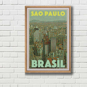 Framed poster of Sao Paulo - Vintage poster