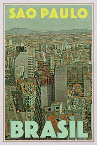 Vintage poster of SAO PAULO PANORAMA - Brazil poster