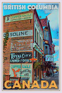 retro poster of british columbia