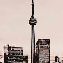 Load image into Gallery viewer, Details of TORONTO CN TOWER - Travel Poster CANADA