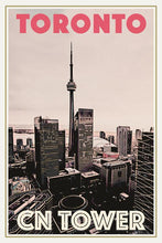 Load image into Gallery viewer, Vintage Poster of TORONTO CN TOWER - Travel Poster CANADA