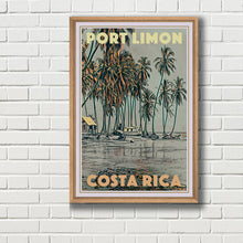 Load image into Gallery viewer, Framed Poster of PORT LIMON - Vintage Travel Poster COSTA RICA