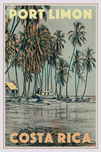 Load image into Gallery viewer, Poster of PORT LIMON - Vintage Travel Poster COSTA RICA