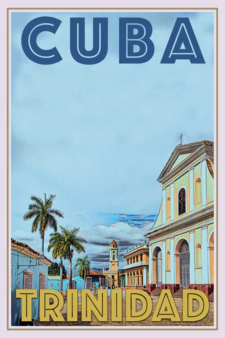 Poster of Trinidad Cuba - Vintage Travel Poster