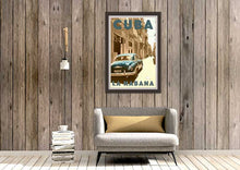 Load image into Gallery viewer, Poster Cuba Blues decor - Vintage Travel Poster Cuba