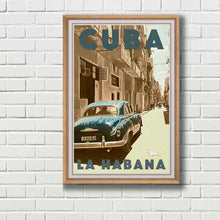 Load image into Gallery viewer, Framed Poster Cuba Blues - Vintage Travel Poster Cuba