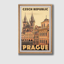 Load image into Gallery viewer, Vintage Art Print Prague 100 Spires - Retro Poster Czech Republic