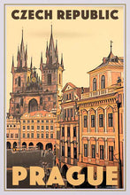 Load image into Gallery viewer, Vintage Poster Prague 100 Spires - Retro Art Print Czech Republic