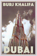 Load image into Gallery viewer, Poster Burj Khalifa 1 - Retro Art Print Dubai UAE