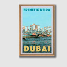 Load image into Gallery viewer, Framed Vintage Poster Frenetic Deira - Retro Poster Dubai