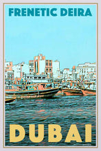 Load image into Gallery viewer, Vintage Travel Poster Frenetic Deira - Retro Poster Dubai
