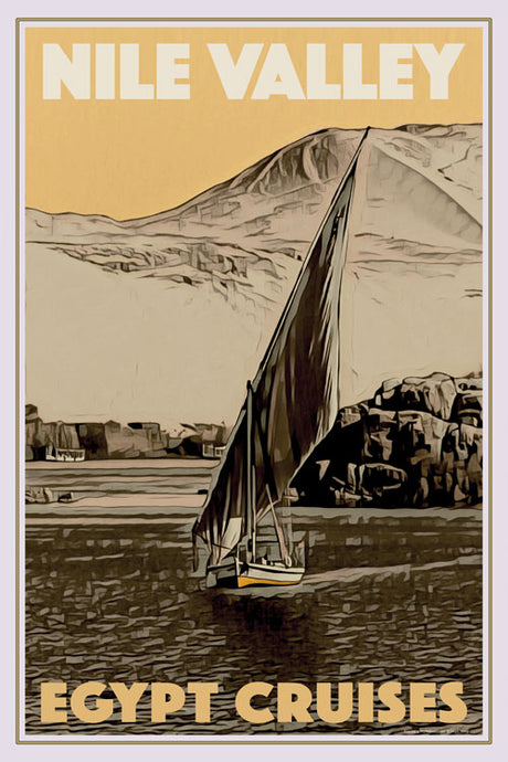 Vintage travel Poster - NILE VALLEY CRUISES - Affiche retro