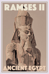 Vintage travel Poster - RAMSES II - ANCIENT EGYPT - Affiche retro