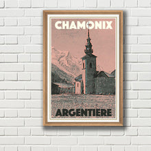 Load image into Gallery viewer, Vintage poster - CHAMONIX ARGENTIERE - Vintage travel poster of france