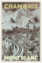 Load image into Gallery viewer, Vintage poster - CHAMONIX MONT BLANC - Vintage poster of france