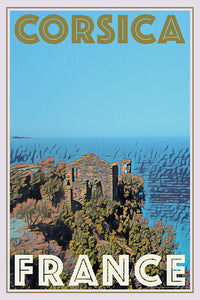 CLIFF CORSICA - Vintage travel poster
