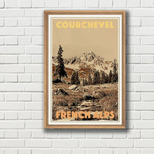 Load image into Gallery viewer, Retro poster - COURCHEVEL - Travel vintage poster - Limited edition