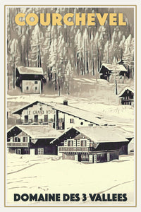 Vintage poster - COURCHEVEL GRAND NORD - Vintage travel poster of france