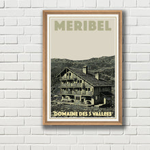 Load image into Gallery viewer, Vintage poster - MERIBEL MARIE BLANCHE - Vintage travel poster of france